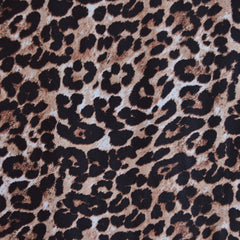 Leopard Print Rayon Challis Brown/Black - Sold Out - Style Maker Fabrics