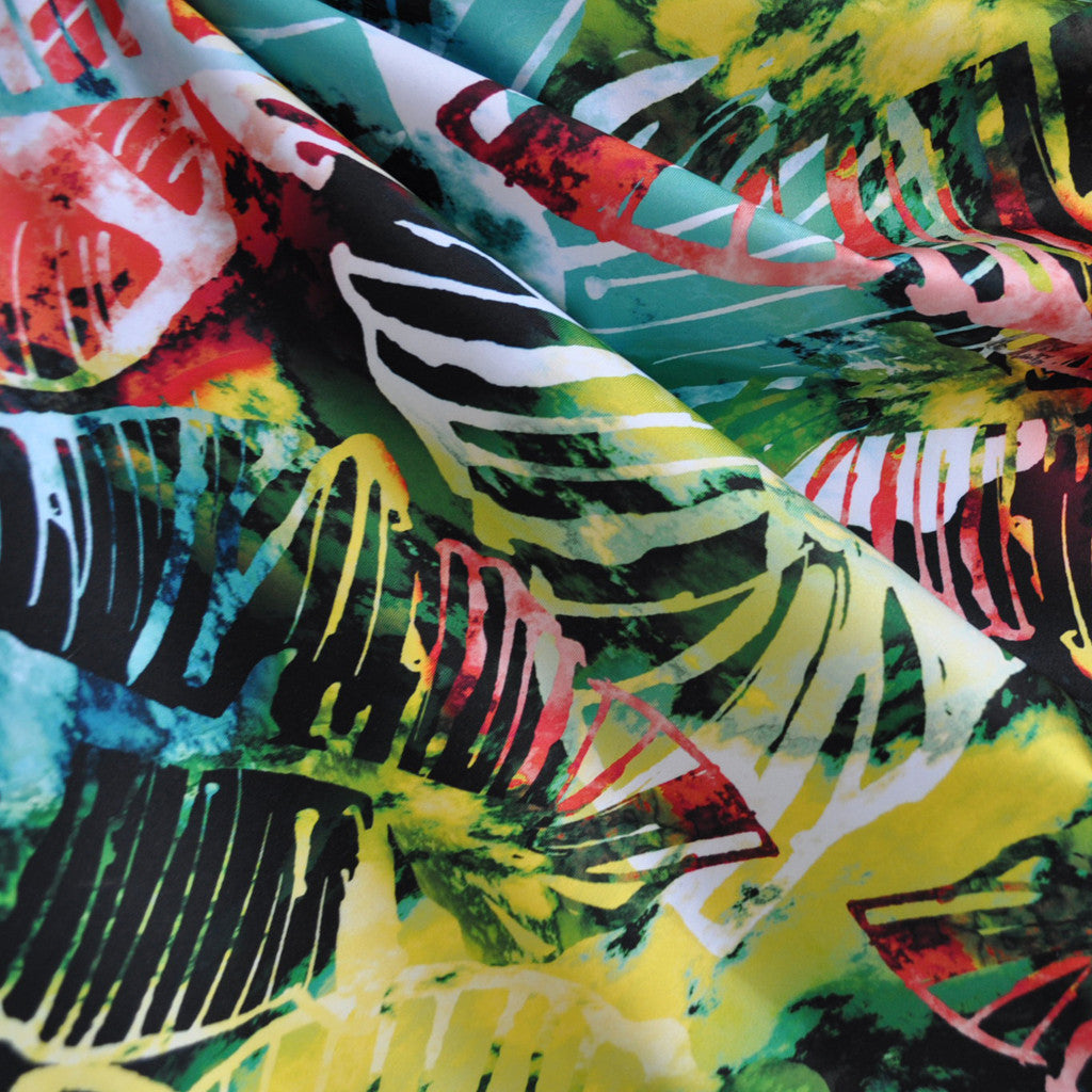 Performance Athletic Knit Tropical Leaves Multi SY - Sold Out - Style Maker Fabrics