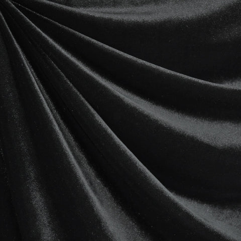 Stretch Velvet Solid Black