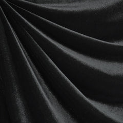 Stretch Velvet Solid Black - Fabric - Style Maker Fabrics