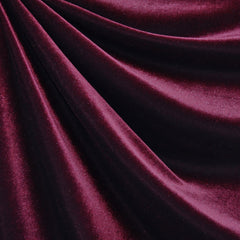 Stretch Velvet Solid Cranberry - Fabric - Style Maker Fabrics