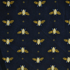 Royal Bee Crepe De Chine Black - Sold Out - Style Maker Fabrics