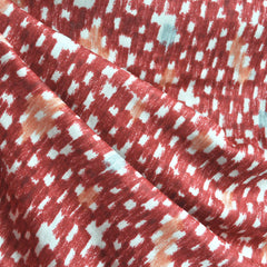 Japanese Rayon Double Gauze Brushstrokes Red - Fabric - Style Maker Fabrics