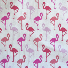 BedHead Flamingo Jersey Knit White/Coral - Sold Out - Style Maker Fabrics