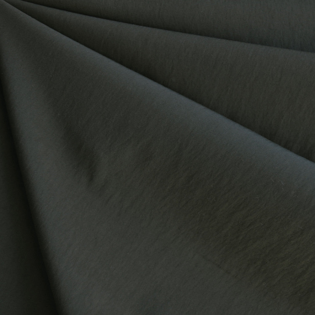 Fine Twill Nylon Blend Dark Olive Green - Sold Out - Style Maker Fabrics