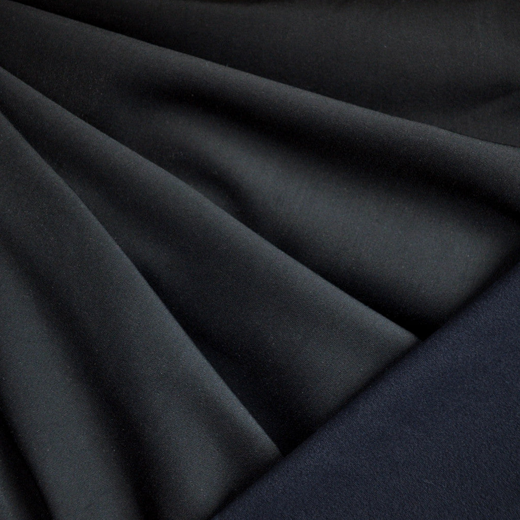 Double Face Athletic Knit Solid Black - Sold Out - Style Maker Fabrics