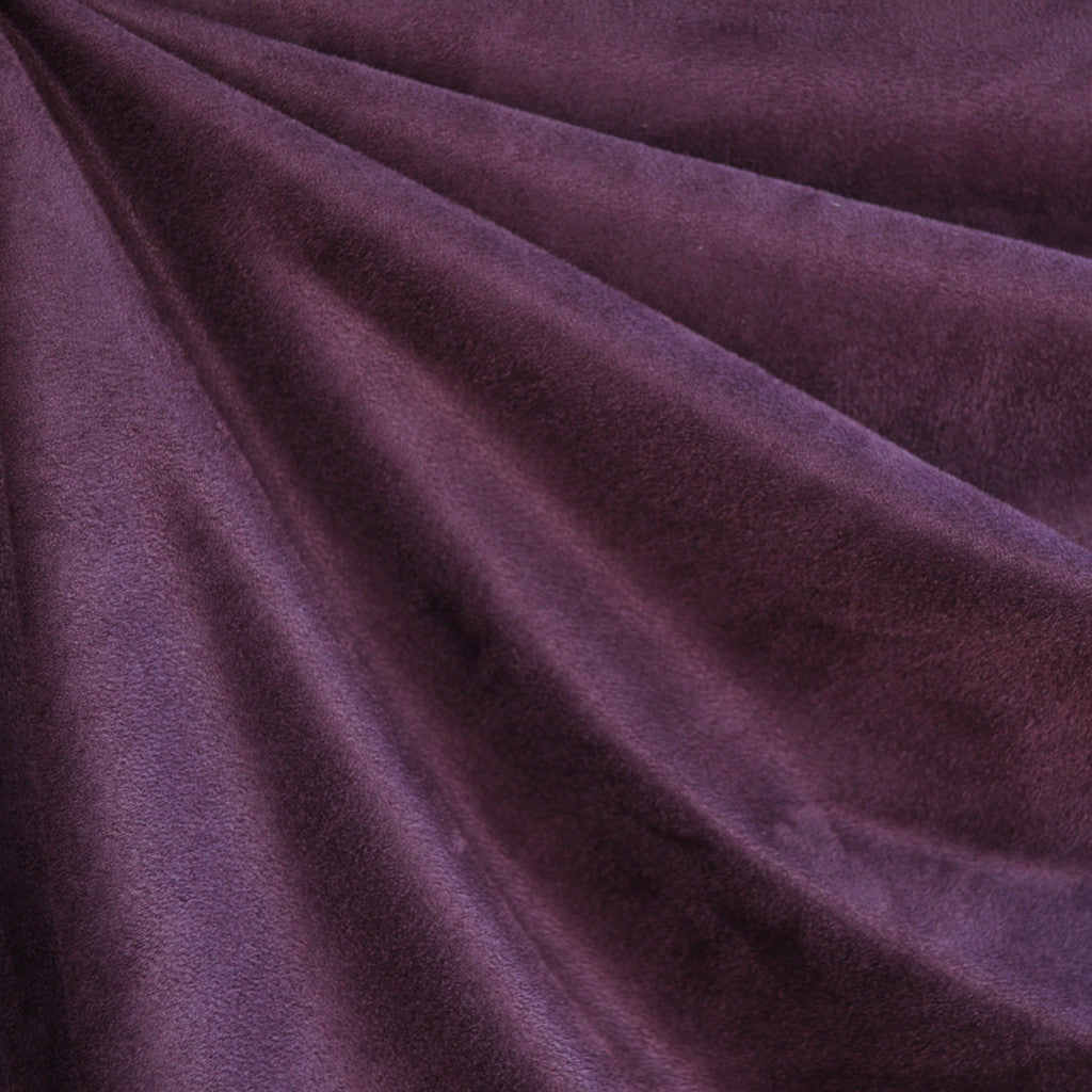 Luxury Faux Suede Plum - Fabric - Style Maker Fabrics