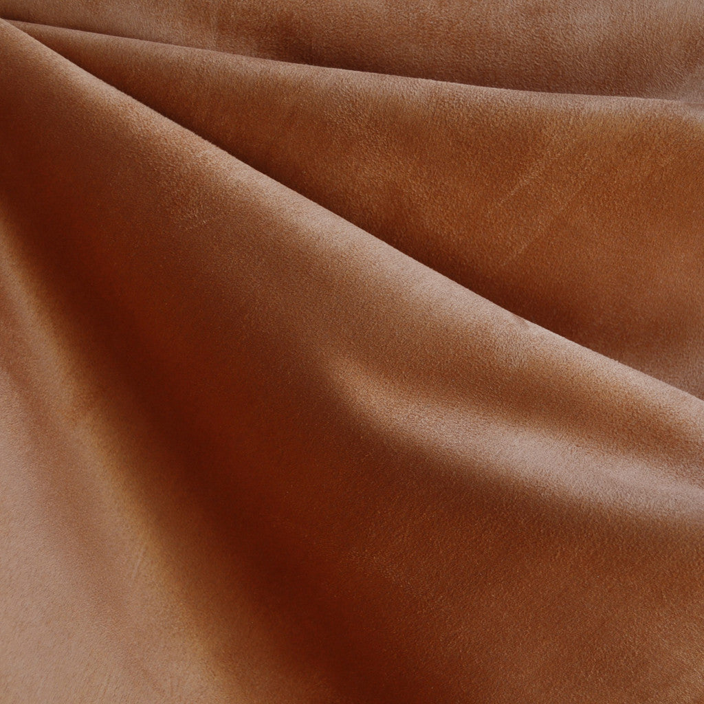 Luxury Faux Suede Chestnut - Fabric - Style Maker Fabrics