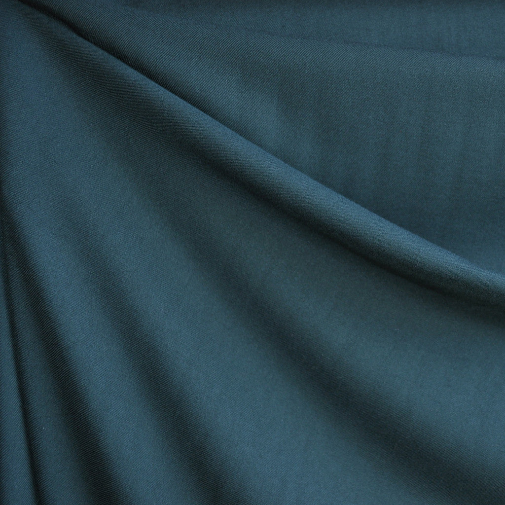 Twill Weave Rayon Solid Teal - Fabric - Style Maker Fabrics