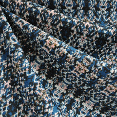 Plush Athletic Knit Abstract Print Slate - Fabric - Style Maker Fabrics