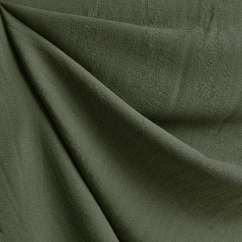 Rayon Crepe Solid Army Green