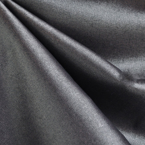 Metallic Stretch Woven Crepe Suiting Pewter