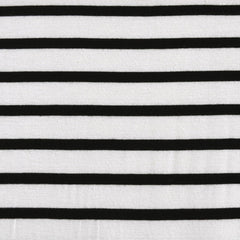 Jersey Knit Uneven Stripe Vanilla/Black - Sold Out - Style Maker Fabrics