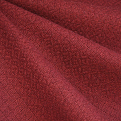 Basketweave Wool Blend Wine - Fabric - Style Maker Fabrics