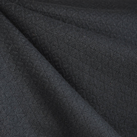 Basketweave Wool Blend Black