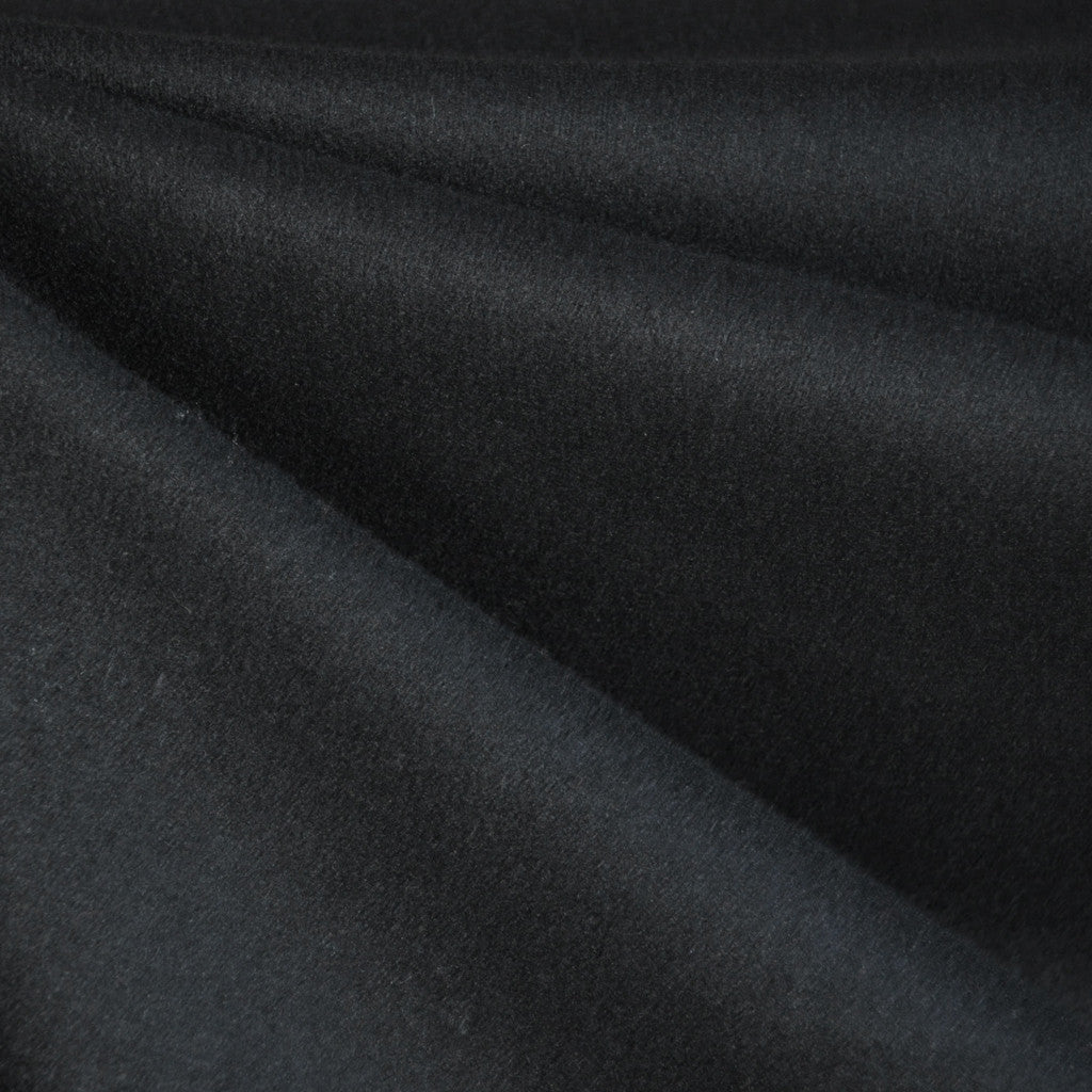 Melton Wool Solid Black - Fabric - Style Maker Fabrics