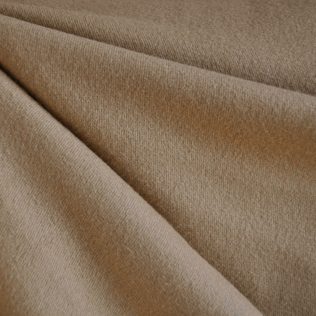 Plush Melton Wool Solid Camel - Fabric - Style Maker Fabrics