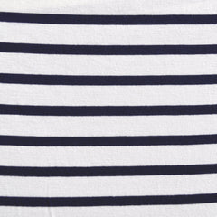 Jersey Knit Uneven Stripe Vanilla/Navy SY - Sold Out - Style Maker Fabrics