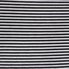 Jersey Knit Mini Stripe Black/White SY - Sold Out - Style Maker Fabrics