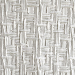 Designer Basketweave Stretch Suiting Winter White - Fabric - Style Maker Fabrics
