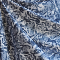 Distressed Damask Print Rayon Challis Denim - Sold Out - Style Maker Fabrics