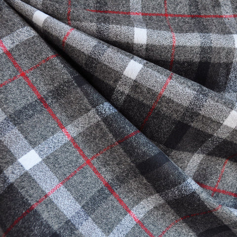 Mammoth Flannel Classic Plaid Grey/Red