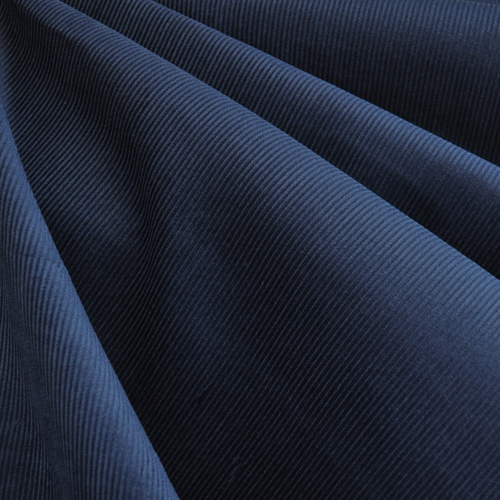 Classic Mid Wale Corduroy Solid Navy - Fabric - Style Maker Fabrics