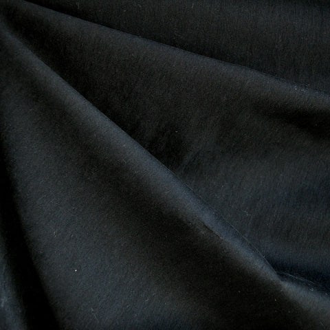 Brushed Fine Twill Nylon Blend Black