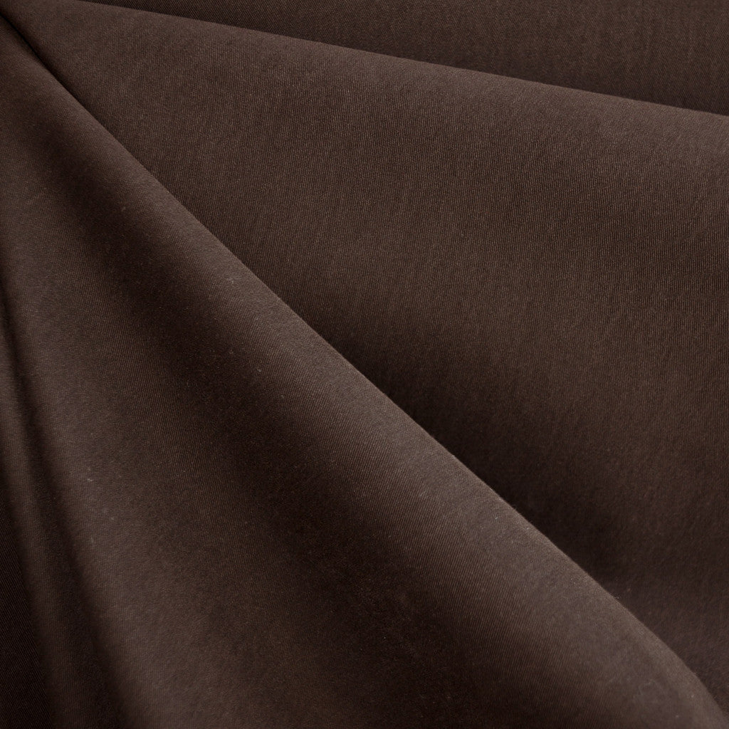 Brushed Fine Twill Nylon Blend Brown SY - Sold Out - Style Maker Fabrics