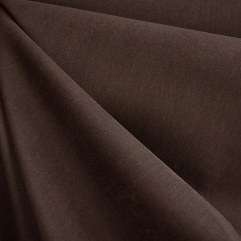 Brushed Fine Twill Nylon Blend Brown