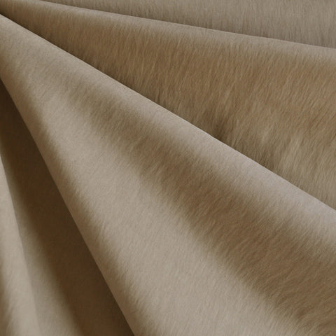 Brushed Fine Twill Nylon Blend Camel Solid