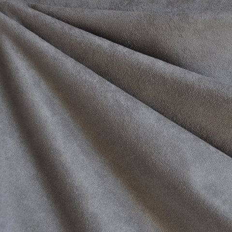 Luxury Faux Suede Grey