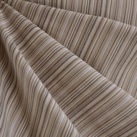 Japanese Stretch Poplin Stripe Natural