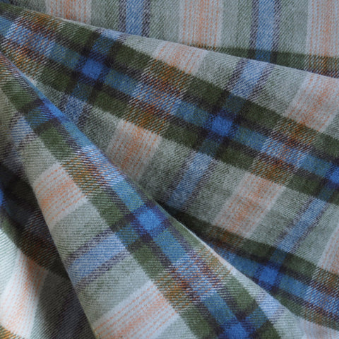 Cotton Flannel Shirting Blue/Green