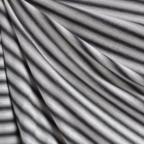 Jersey Knit Variegated Stripe Greys