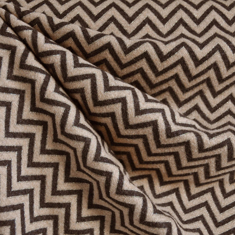 Metallic Chevron Jacquard Brown/Gold