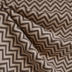Metallic Chevron Jacquard Brown/Gold SY - Sold Out - Style Maker Fabrics