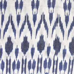 Medallion Ikat Shirting Blue/White - Sold Out - Style Maker Fabrics