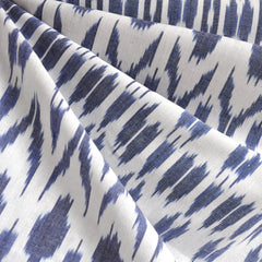 Medallion Ikat Woven Shirting Blue/White - Sold Out - Style Maker Fabrics