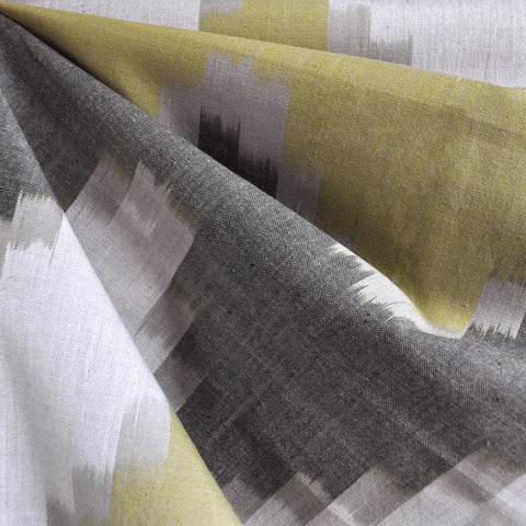 Chevron Ikat Woven Shirting Olive/Taupe