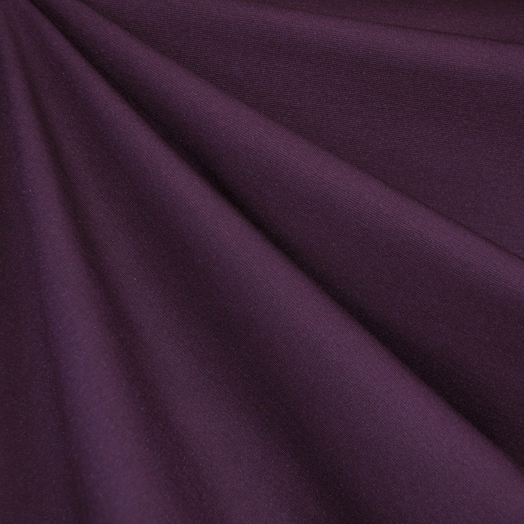 Classic Ponte Knit Solid Deep Plum - Fabric - Style Maker Fabrics
