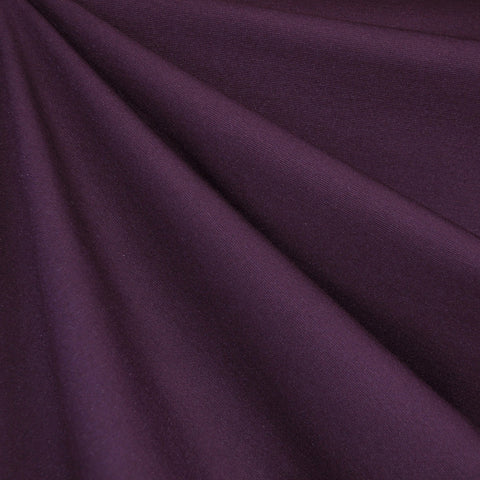 Classic Ponte Knit Solid Deep Plum