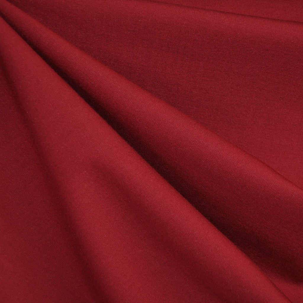 Classic Ponte Knit Solid Scarlet - Fabric - Style Maker Fabrics