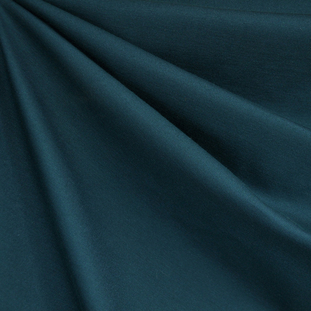Classic Ponte Knit Solid Teal - Fabric - Style Maker Fabrics