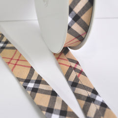 Plaid Printed Bias Tape - Trim - Style Maker Fabrics