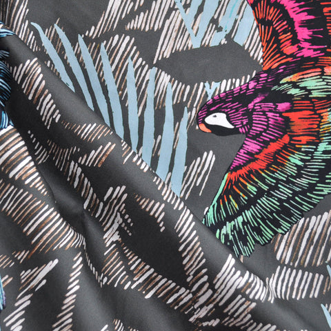 Soaring Parrots Cotton Sateen Multi