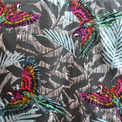Soaring Parrots Cotton Sateen Multi - Fabric - Style Maker Fabrics