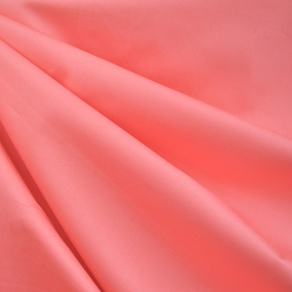 Cotton Shirting Solid Coral - Sold Out - Style Maker Fabrics