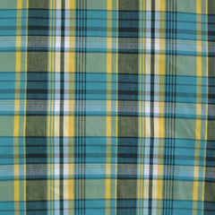 Bermuda Plaid Shirting Teal/Yellow - Sold Out - Style Maker Fabrics