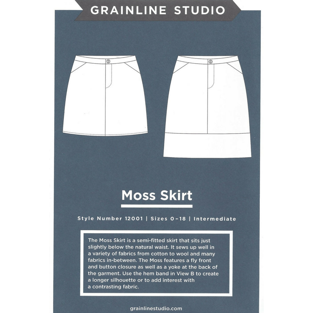 Grainline Studio Moss Skirt - Patterns - Style Maker Fabrics